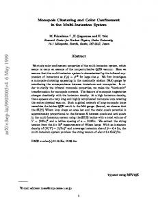 Monopole Clustering and Color Confinement in the Multi-Instanton ...