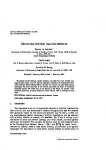 Monotone chemical reaction networks