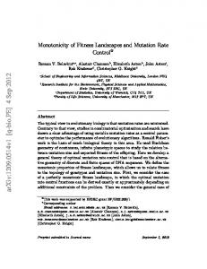 Monotonicity of Fitness Landscapes and Mutation Rate Control