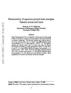 Monotonicity of quantum ground state energies: Bosonic atoms and stars