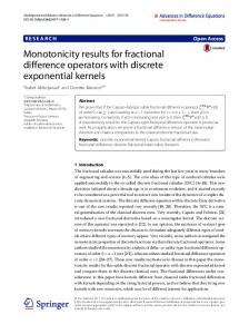 Monotonicity results for fractional difference operators with ... - Core