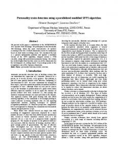 Mon.SS1.04 Personality Traits Detection Using a Parallelized ... - Limsi
