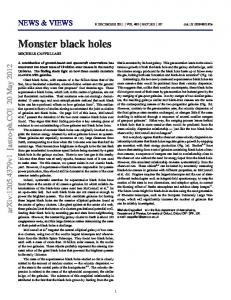 Monster black holes - arXiv