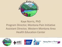 Montana Pain Initiative - Montana Legislature