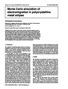 Monte Carlo simulation of electromigration in