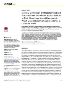 Monthly Distribution of Phlebotomine Sand Flies ... - Semantic Scholar