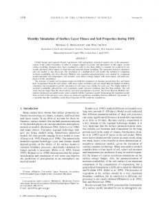 Monthly Simulation of Surface Layer Fluxes and Soil Properties during ...