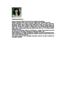 Montserrat Guibernau Doctor of Social and Political Theory from the ...