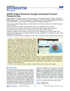 MOPED Enables Discoveries through Consistently ... - ACS Publications