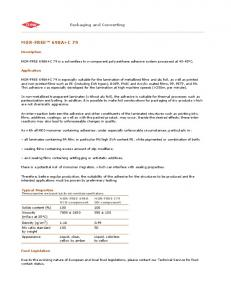 MOR-FREE 698A+C 79 - The Dow Chemical Company