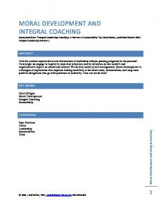 Moral Development and Integral Coaching - Integral Focus