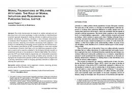 Moral Foundations of Welfare Attitudes: The Role of Moral Intuition