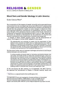 Moral Panic and Gender Ideology in Latin America - Religion and ...