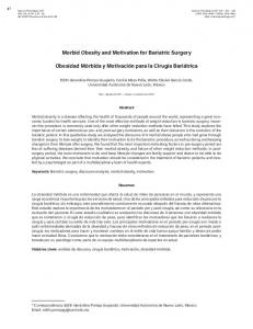 Morbid Obesity and Motivation for Bariatric Surgery