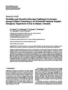 Morbidity and Mortality following Traditional Uvulectomy among