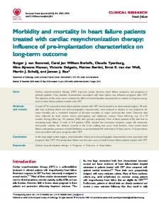 Morbidity and mortality in heart failure patients treated with cardiac ...