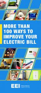 More Than 100 Ways to Improve Your Electric Bill