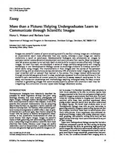 More than a Picture: Helping Undergraduates Learn to Communicate ...