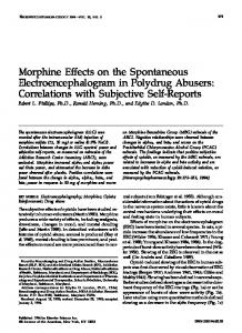 Morphine Effects on the Spontaneous Electroencephalogram ... - Nature