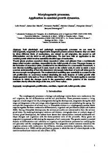 Morphogenetic processes. Application to cambial growth ... - CiteSeerX