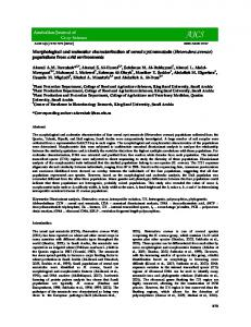 Morphological and molecular characterization of cereal cyst nematode ...