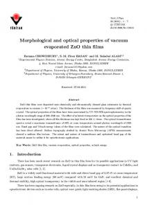 Morphological and optical properties of vacuum ... - DergiPark