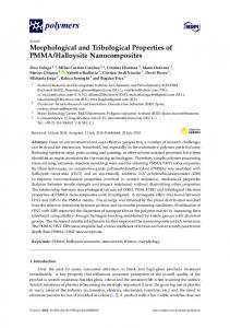 Morphological and Tribological Properties of PMMA ...