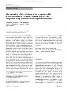 Morphological effects of single-layer graphene oxide in the formation ...