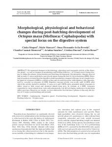 Morphological, physiological and behavioral changes ... - Inter Research