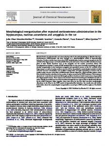 Morphological reorganization after repeated