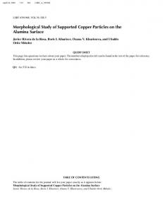 Morphological Study of Supported Copper Particles