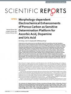 Morphology-dependent Electrochemical Enhancements of ... - Nature
