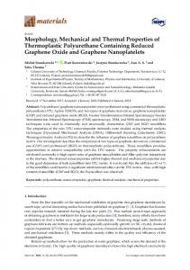 Morphology, Mechanical and Thermal Properties