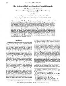Morphology of Polymer-Stabilized Liquid Crystals - American ...