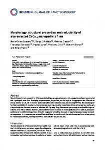 Morphology, structural properties and reducibility ... - Beilstein Journals