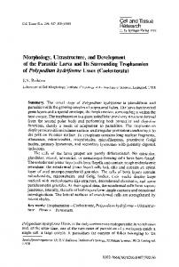 Morphology, ultrastructure, and development of the parasitic larva and ...