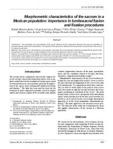 Morphometric characteristics of the sacrum in a ...