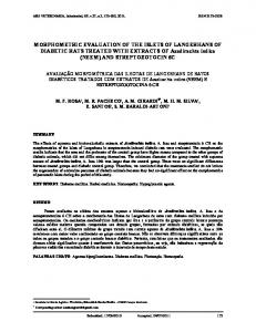 MORPHOMETRIC EVALUATION OF THE ISLETS