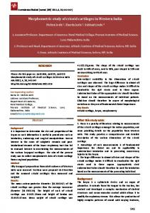 Morphometric study of cricoid cartilages in Western