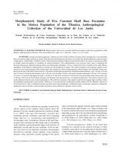 Morphometric Study of Five Constant Skull Base Foramina in ... - SciELO