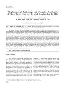 Morphostructural Relationships and Productive Functionality ... - SciELO