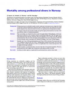 Mortality among professional divers in Norway - Semantic Scholar
