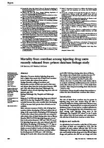 Mortality from overdose among injecting drug ... - Semantic Scholar