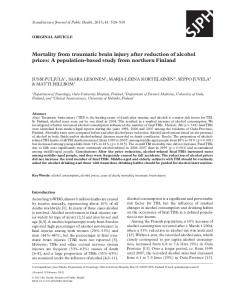 Mortality from traumatic brain injury after reduction of ... - SAGE Journals