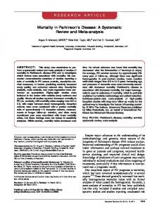 Mortality in Parkinsons disease - Wiley Online Library
