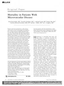 Mortality in Patients With Microvascular Disease - Wiley Online Library