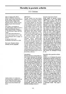 Mortality In Psoriatic arthritis - Clinical and Experimental Rheumatology