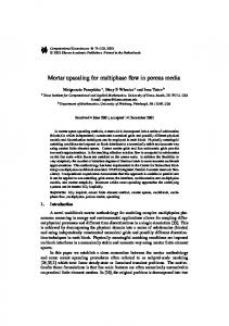 Mortar upscaling for multiphase flow in porous media - Department of ...