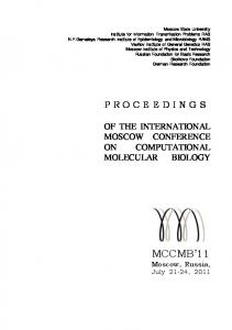 Moscow Conference on Computational Molecular Biology (MCCMB)