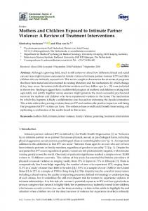 Mothers and Children Exposed to Intimate Partner Violence - MDPI